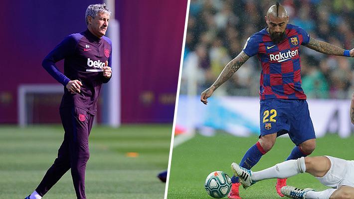 Las definiciones de Quique Setién sobre Vidal en medio de su posible partida del Barcelona