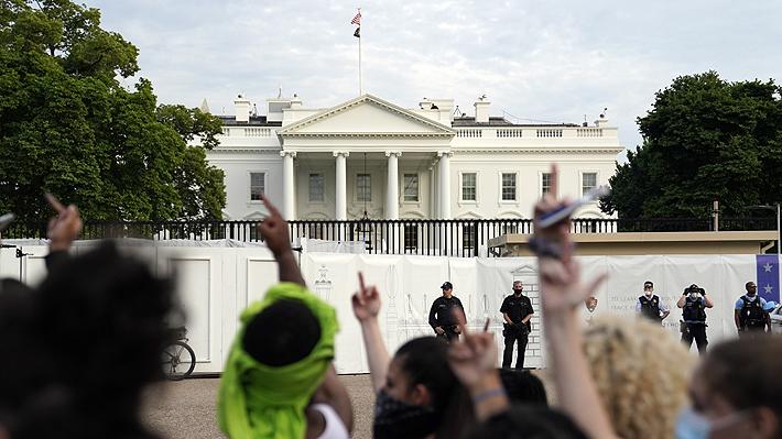 Cierran la Casa Blanca en medio de nuevas protestas en Estados Unidos por la muerte de George Floyd