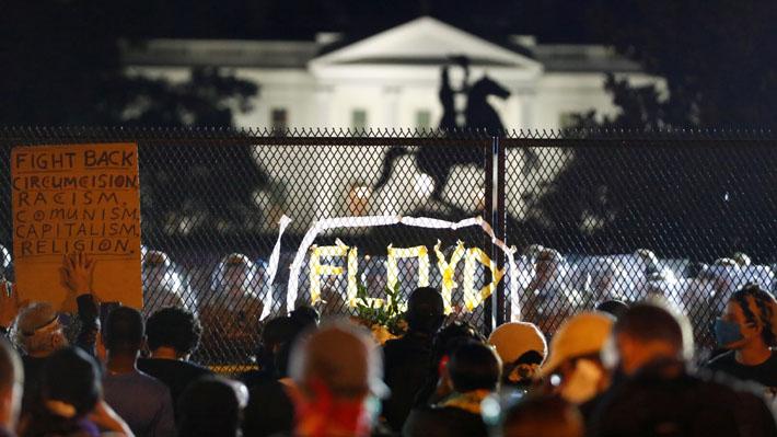 """EE.UU. vive nueva jornada de manifestaciones tras muerte de George Floyd con """"cacerolazo"""" frente a la Casa Blanca"""