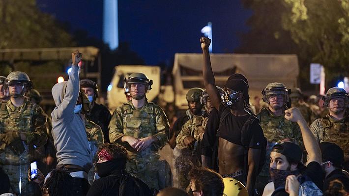 Fuerte despliegue militar marca la novena jornada de protestas en Washington por la muerte de George Floyd