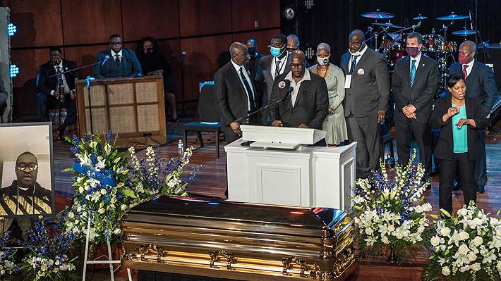 Miles de personas asisten a ceremonia en honor a George Floyd en Minneapolis a 10 días de su muerte