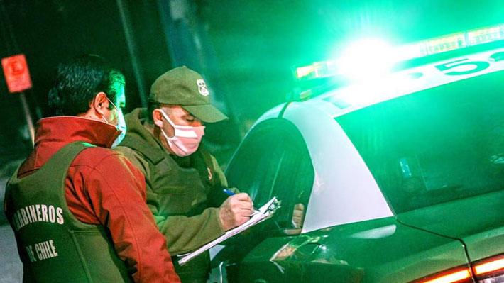 Carabineros y último balance: 1.087 personas infringieron toque de queda y cuarentenas a nivel nacional