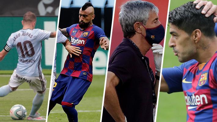 """El cruce de Vidal con jugador del Celta justo antes del empate y la frase de Suárez que en España dicen que es un """"zarpazo"""" a su DT"""