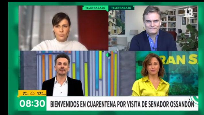"""Canal 13 activa protocolo tras covid-19 positivo de Ossandón: Estuvo en el matinal """"Bienvenidos"""" el viernes"""