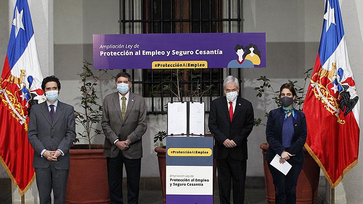 Presidente firma proyecto que amplía Ley de Protección del Empleo y flexibiliza acceso al Seguro de Cesantía