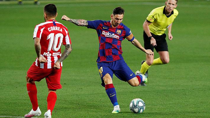 """La imagen que se hizo """"viral"""" del Barcelona-Atlético y que apuntan a que muestra las diferencias de ambos equipos"""
