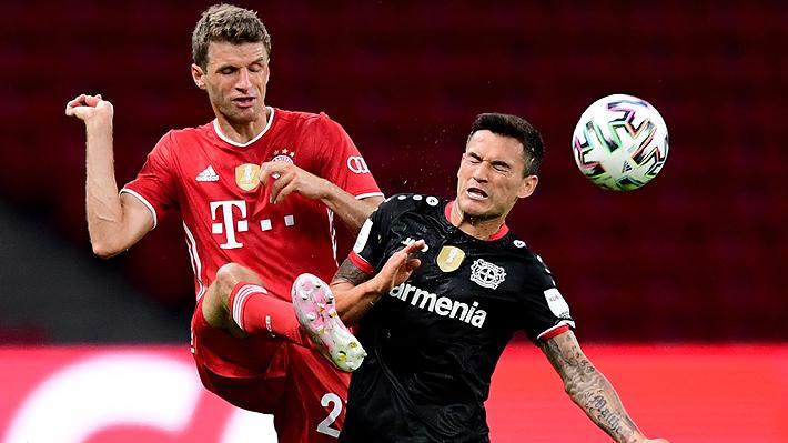 Aránguiz y el Leverkusen no pudieron y sucumbieron ante el Bayern en la final de la Copa de Alemania