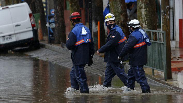 Onemi por lluvias: Alerta Amarilla para el Cachapoal, viviendas con daños y más de 14 mil clientes sin suministro eléctrico