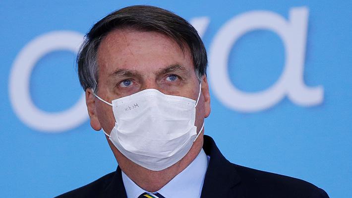 """Bolsonaro confirma que se sometió a nuevo examen de covid-19 y a un """"chequeo de pulmón"""""""