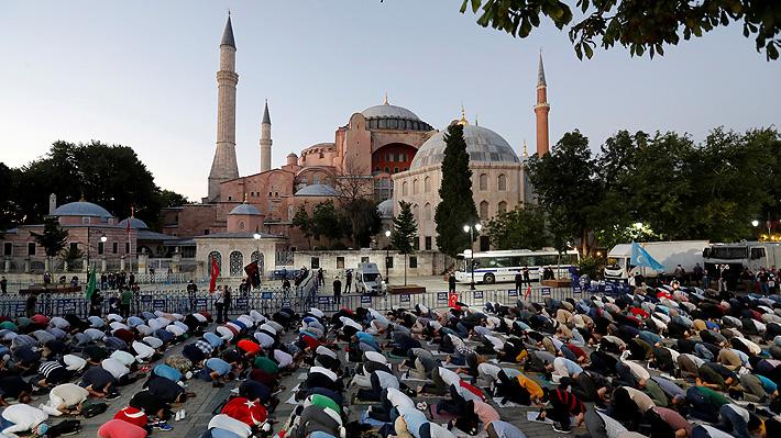 Polémica en Turquía: Erdogan abre la basílica de Santa Sofía al culto musulmán y desata críticas de Grecia, Rusia y la Unesco