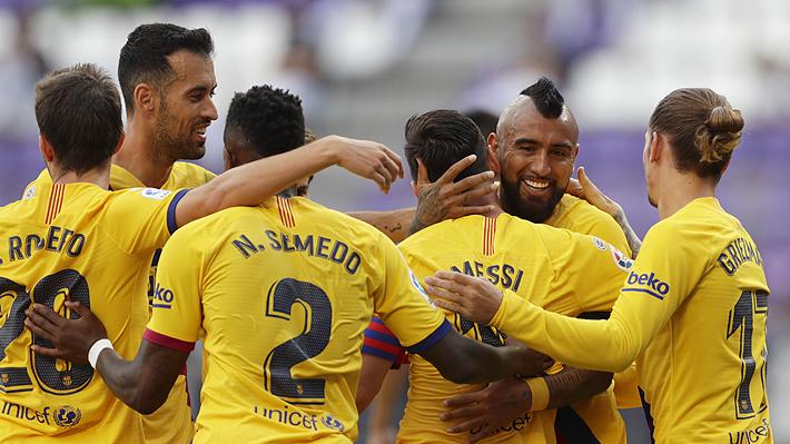 Un gol de Vidal y un soberbio Ter Stegen le dan el triunfo al Barça, que sigue en la lucha por el título en la Liga con el Madrid