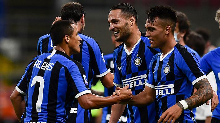 Alexis jugó otro gran partido y dio dos asistencias en la remontada del Inter sobre el Torino