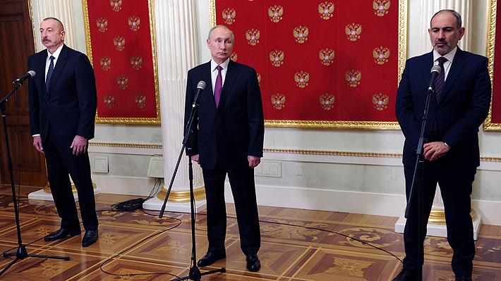 Líderes de Armenia y Azerbaiyán se reúnen con Putin a dos meses del fin de  la guerra en Nagorno-Karabaj | Emol.com