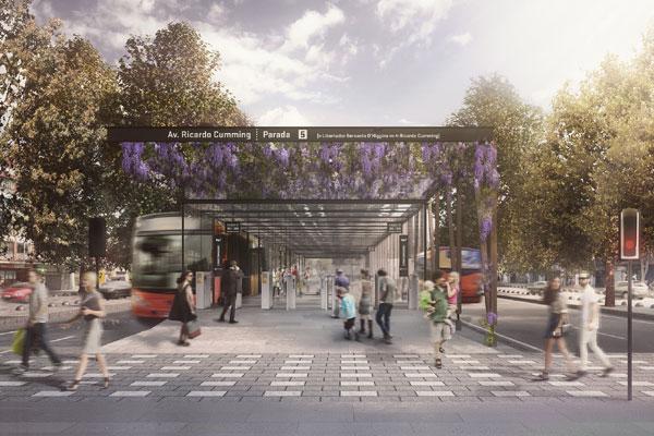 Propuesta con corredor exclusivo para transporte público se queda con rediseño Alameda-Providencia