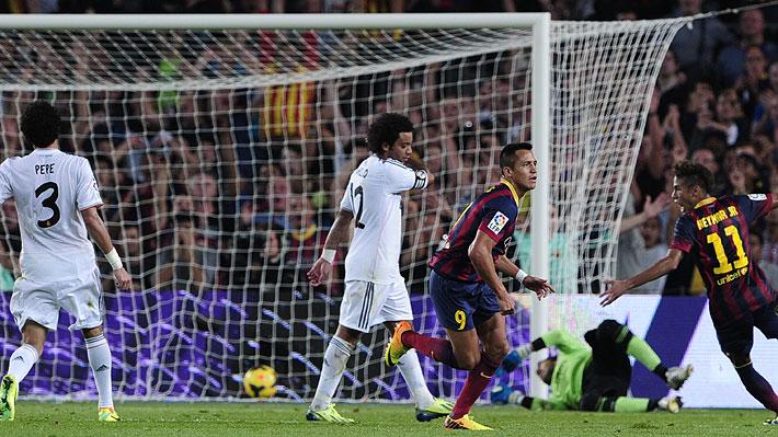 Alexis le anota su mejor gol en Barcelona al Real Madrid y se luce en el Derbi español