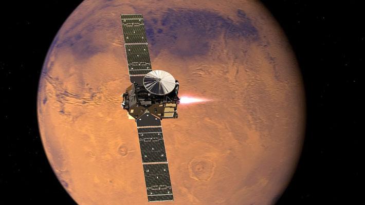 ExoMars se dirige hacia su órbita definitiva sobre Marte