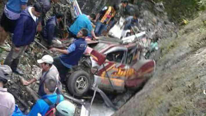 Dos accidentes de tránsito dejan al menos 23 fallecidos en Bolivia