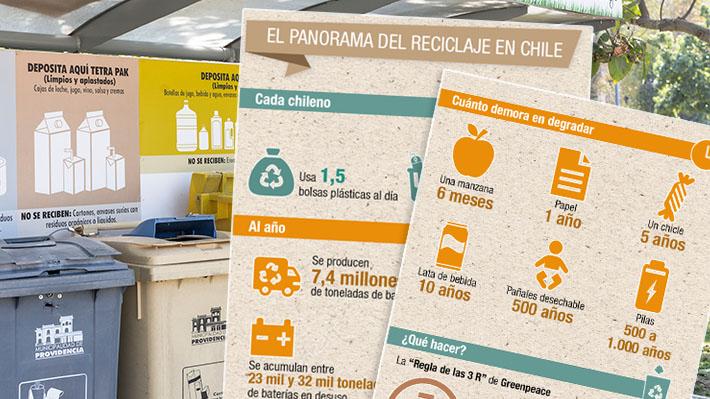 Infografía: Cuánta basura producen los chilenos y cuáles son sus hábitos de reciclaje