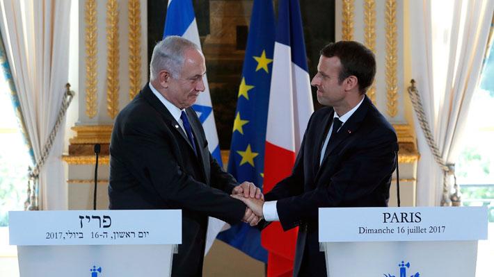Ante Netanyahu, Macron reafirma la posición de Francia en favor de dos Estados
